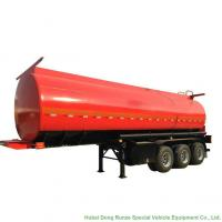 Quality Tri Axle Stainless Steel Tank Semi Trailer For Palm Oil / Crude Fuel / Petrol Oil Delivery wholesale