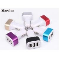 Cheap Data Transfer USB Car Charger / Mobile Phone Charger Prevent Short Circuit for sale