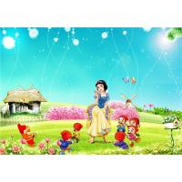 Quality Eco Friendly Bamboo Fiber 3D Embossed Wall Panels Snow White Seven Dwarfs wholesale