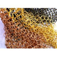 Quality Ring Dia 1.0 x 20mm S Hook Metal Mesh Drapery with Flat Wire For Ceiling Treatments wholesale