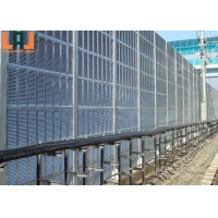 2500x500x80mm Sound Barrier Fence Glass Wool Inner Highway Noise Barrier Wall for sale