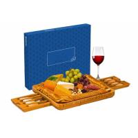 Quality Extra Large Bamboo Cheese Board Natural Wooden Serving Platter Server wholesale