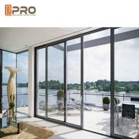 Quality Waterproof Commercial Sliding Glass Door Double Glass Aluminium Profile Exterior Sliding Doors door slide aluminium wholesale