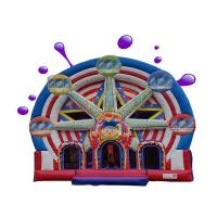 Quality Ferris Wheel Inflatable Combo Bounce House / Commercial Jumping Castle wholesale