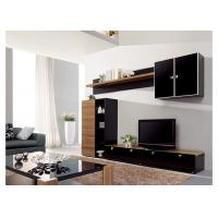 China Living Room Entertainment Wall Unit Furniture MDF Material Melamine Finish on sale