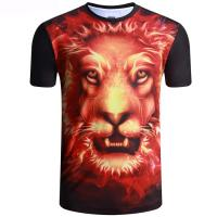 Quality Round neck sublimation printing tiger polyester short sleeve T-shirt wholesale