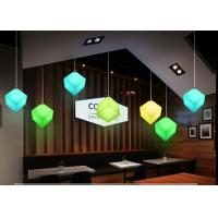 Buy cheap Contemporary Style Led Light Cube For Restaurant / Colorful Led Cube Night Light from wholesalers