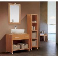 Cheap 16mm oak / plywood Ceramic Bathroom Vanity 48 inch 2 doors without Drawer for sale
