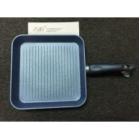 China Forged Aluminum Cookware Sets Non-stick marble coating-blue coating Grill Pan on sale