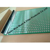 Quality 40 - 400 Mesh Flat Oil Vibrating Screen For Model 500 Shale Shaker Mud Cleaner wholesale