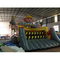 China New Inflatable Construction Themed Obstacle Course PVC Inflatable Obstacle Course Outdoor Games on sale