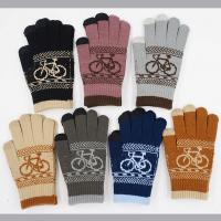 China 11*20.5cm 52g Nature And Soft 90%Acrylic 5%Spandex 5%Conductive Fiber Cheap Women Winter Knitting Gloves on sale