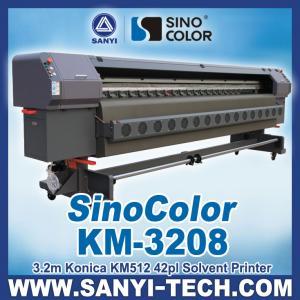 China 3.2m Digital Flex Printing Machine Sinocolor KM3208, With Konica Minolta Head on sale