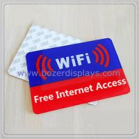 Acrylic Free Wi-Fi Hotspot Signs for sale