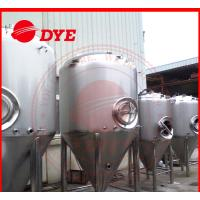 Cheap Manual Industrial Beer Brewing Equipment With Mash Tun , Conical Beer Fermenter for sale