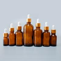 Quality 5 ml Amber Glass Essential Oil Bottle with European Dropper Cap wholesale