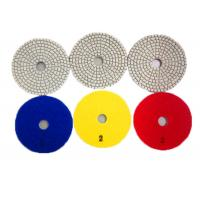Quality 3 Step Polishing Pads Granite Stone / Wet Diamond Polishing Pads 3mm Thickness wholesale
