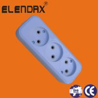 Quality Elendax Germany type White colour ABS 5 ways extension sockets wholesale