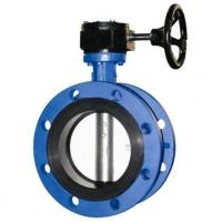 Quality 4 Inch Resilient Seated Butterfly Valves With Worm Gear / Double Flanged Butterfly Valve wholesale