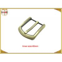 Quality Gold Custom Zinc Alloy Metal Belt Buckle 40mm With CNC Engraved Logo wholesale