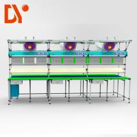 Quality Aluminium Work Table Lean Production Line Adjustable Spped For Light Industry wholesale