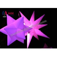 Quality Ripstop Nylon Blow Up Lighting Inflatable Led Star Decorations Commercial / Rental Grade wholesale