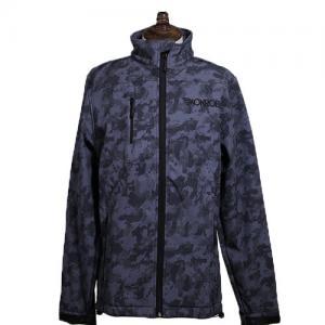 China Custom Printed Winter Sports Jacket Long Sleeve Full Zipper Windproof Softshell Jacket on sale