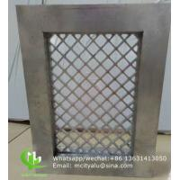 China Aluminum mesh with frame for window decoration any size can be made on sale