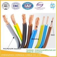 Quality pvc insulated copper stranded vs solid wiring copper AWG electric wire wholesale