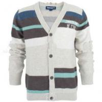Quality OEM 100% cotton V neck kids Baby Knitted Cardigans With Button For 2 - 16Y Boys wholesale