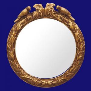 Quality 4033 Luxury Golden PU Wall Decor Mirror Frame wholesale