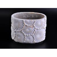 Quality Decoration flower round cement candle holder Hand made engraving wholesale
