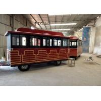 Quality Customized Color Trackless Train Amusement Ride With FRP And Steel Material wholesale