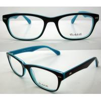 Cheap Blue Black Stylish Acetate Optical Frame For Women, Men 52-18-140mm for sale