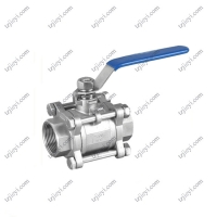 Quality Thread Connection Pieces Stainless Steel 3 Piece Type Water Ball Valve wholesale