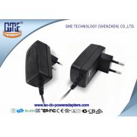 Quality EU PIN 12V Power Adapter 1.25A Low Ripple 50Hz With Black / White Color wholesale
