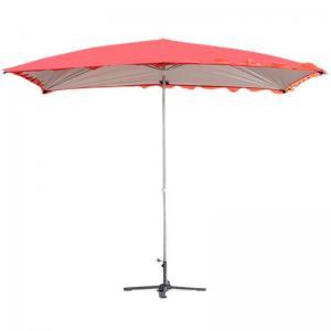 Quality 100% Fiberglass Frame Round Beach Umbrella Push Lift Black Fabric wholesale