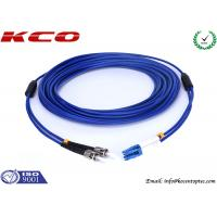 Quality Anti Rodent Fiber Optic Patch Cord Single Mode , ST To LC Armored Fiber Patch Cable wholesale