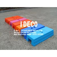 Quality Injection Moulded Temporary Fence Feet, Plastic Temp Fencing Stands, Portable Fence PolyBlock Base wholesale