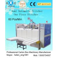 Quality Semi-Automatic Stapler Carton Making Machine With Single / Double Stitching wholesale