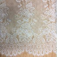 Quality 150cm * 300cm  2017  New Fashion Bridal Eyelash Lace Fabric  in Ivory  color wholesale
