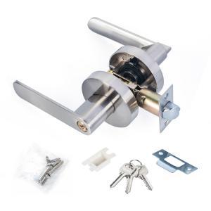 Quality Satin Nickel Lever Set Lock Living Room Bedroom Bathroom Tubular Door Handle Lock wholesale