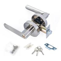 Quality Satin Nickel Lever Set Lock Living Room Bedroom Bathroom Tubular Door Handle Lock wholesale