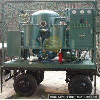 China Mobile Type Transformer Oil Purifier Machine , Electric Heater Custom Color Oil Treatment Machine on sale