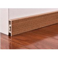 Quality CE Wooden Color Waterproof PVC Vinyl Skirting Board For Floor / Wall Base wholesale