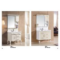 Quality Rectangular Sink Floating Bathroom Vanities LED Lamp Mirror Ceramic Basin wholesale