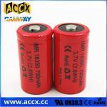 Quality ICR18350 700mAh 3.7V li-ion battery 18350 for led, cordless phone, home application wholesale