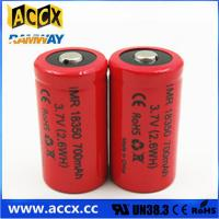 Quality ICR18350 700mAh 3.7V li-ion battery 18350 for led, cordless phone, home application wholesale