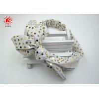 China Sequin Fabric Elastic Tie Daisy Hair Band Wrap Hair Accessories For Girls on sale