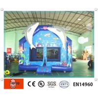Quality OEM colorful dolphin Commercial Inflatable Bouncers With Slide Combo for kids wholesale